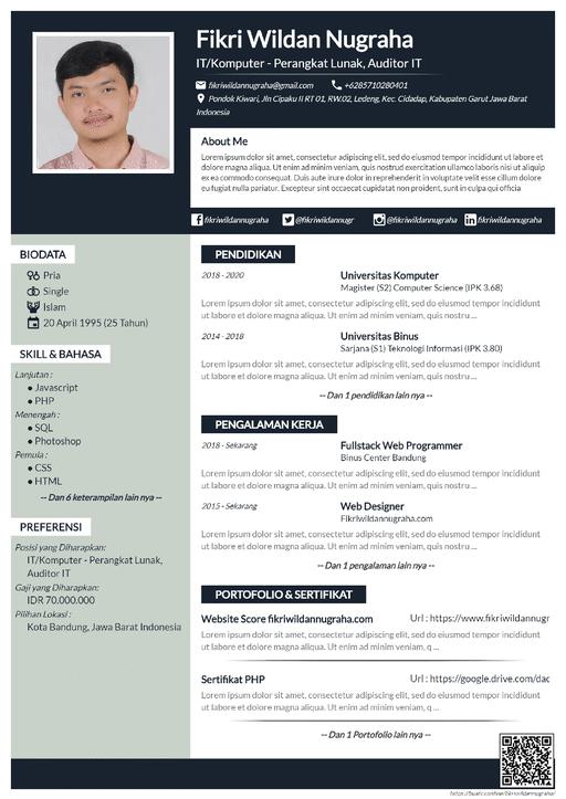 Curriculum Vitae Simple Navy - CV Profesional